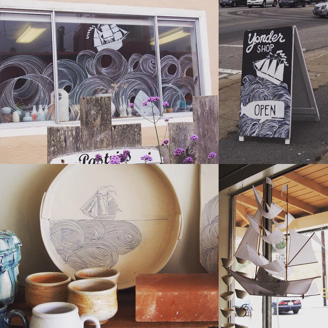 Found the wonderful @hey_yonder_shop which I have been following for a while. On the 101 in to San Fransico from the South.  Wonderful people.  Wonderful ceramics.  @keneardley  @fromvictoriashop and an @hapticlab kite boat.