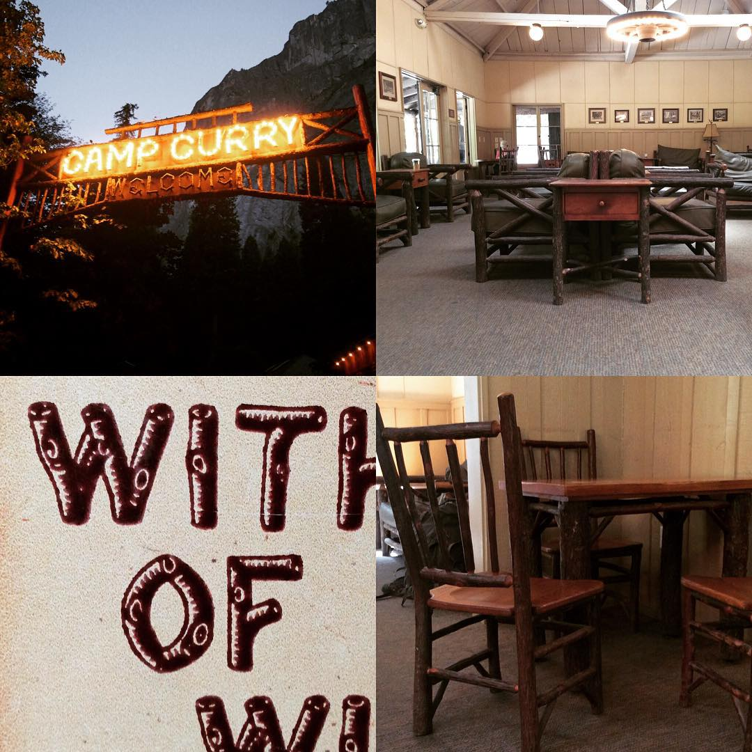 Really quite intrigued by. In the heart of it's a 1920s camp with glam ping tents and wonderful architecture and furniture a bit reminiscent of The and. Love the chairs @jasonmosseri_intoyou and also the woody font off to valley next