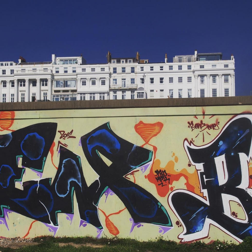 starkcontrast regency brighton  brightonmarina madeiradrive graffiti brightongraffiti brightonseafront brightonbeach